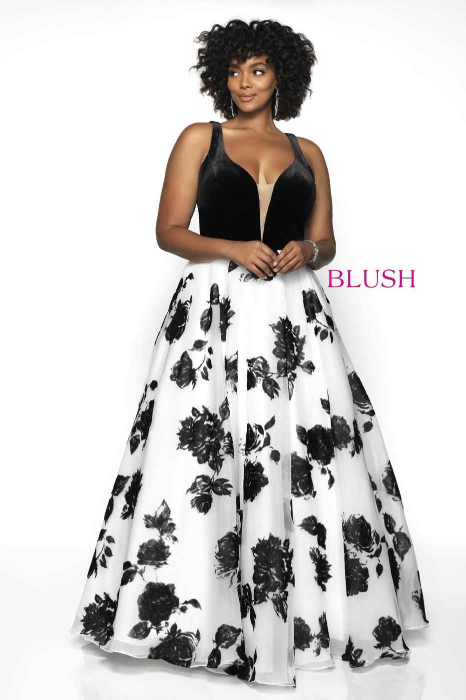 Black And White Prom Dress Plus Size