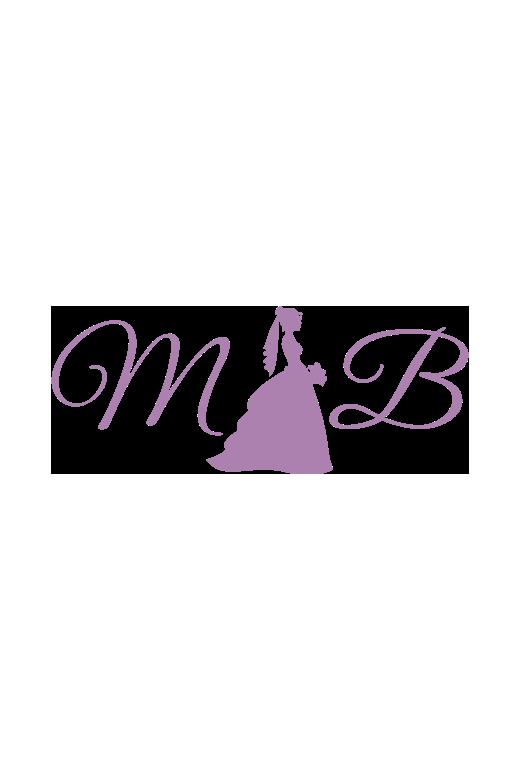 6eca349b6f4b Jersey Halter Evening Dress With Lace Applique Bodice - raveitsafe