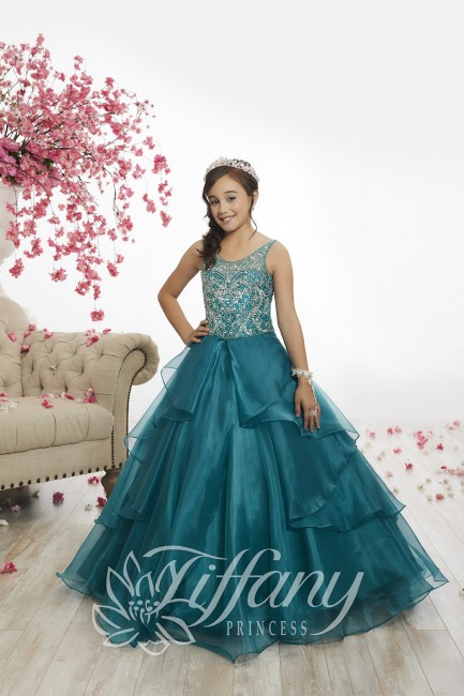 2492d0e0575 Tiffany Princess 13526 Scoop Neck Pageant Dress