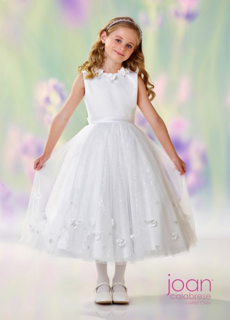 01f8e6d3d2 Joan Calabrese 118301 Illusion Back Flower Girl Dress