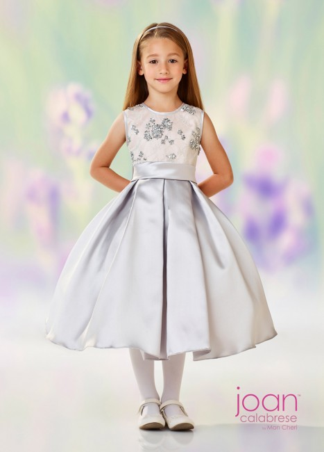 726e1aa640 Joan Calabrese 118313 Pleated Skirt Flower Girl Dress