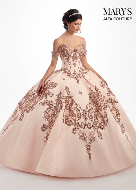 6e69f76be78 Marys Bridal MQ3025 Cold Shoulder Quinceanera Dress Dress - MadameBridal.com