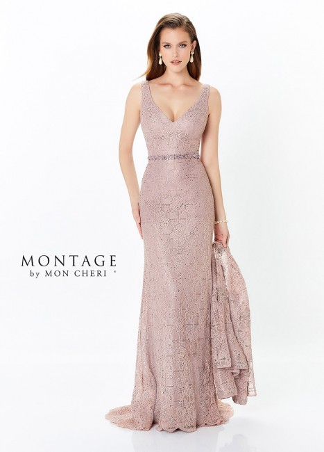 b89332ff76d Montage by Mon Cheri 118983 V-Neck Mother of Bride Dress with Jacket ...