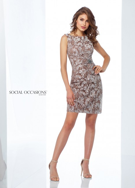 58c5504556 Social Occasions by Mon Cheri 118868 Fitted Lace Formal Short Dress ...