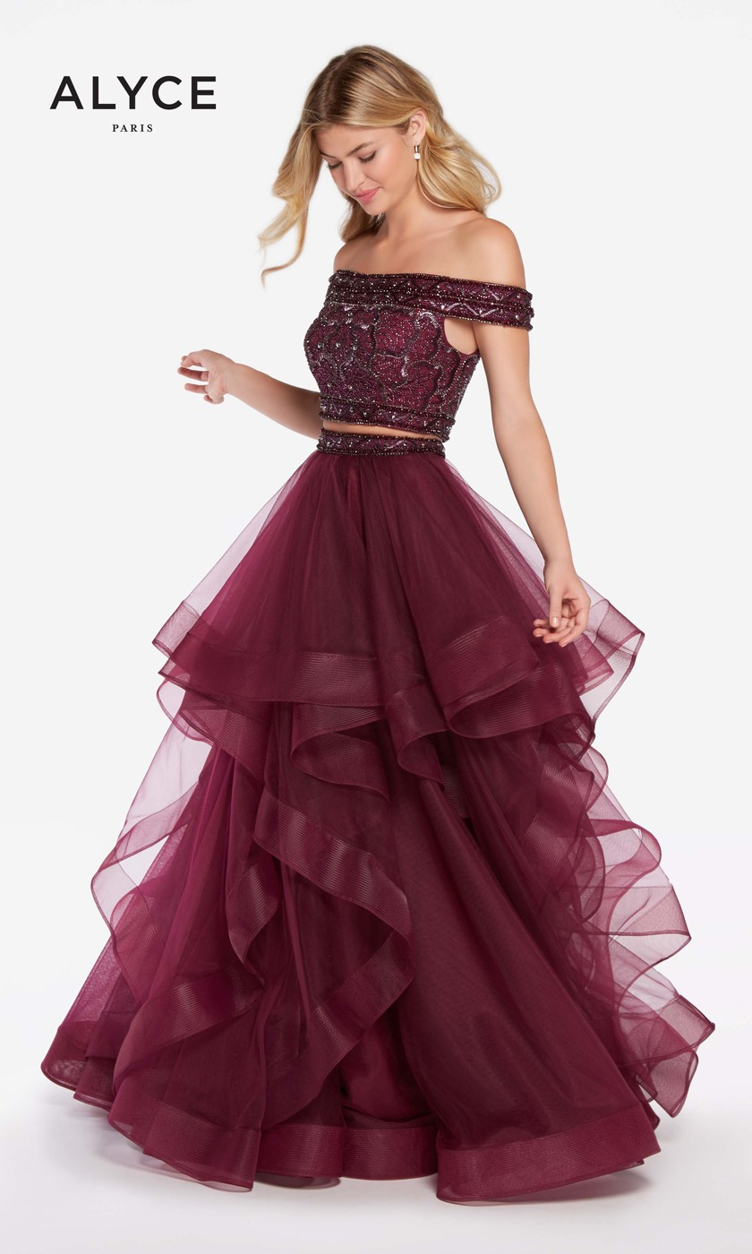 56a7dfd902e Alyce Paris 60190 Two-Piece Prom Dress