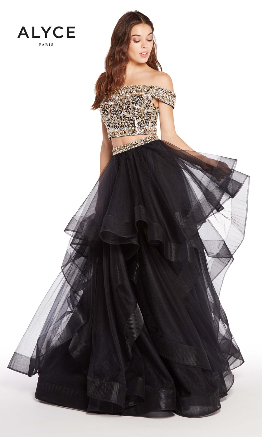 a605bd70b92 ... Alyce Paris 60190 Two-Piece Prom Dress ...