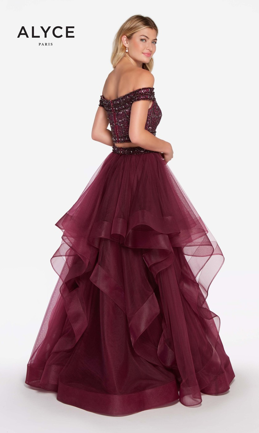 57ed40a6453 ... Alyce Paris 60190 Two-Piece Prom Dress