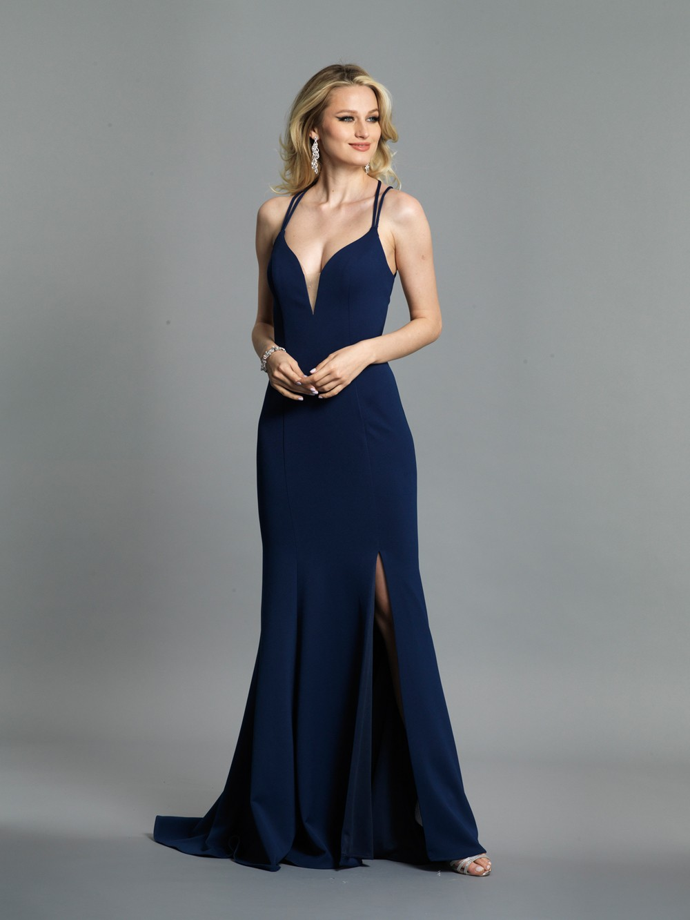dfb7a595404 Dave and Johnny A7256 Spaghetti Strap Prom Dress