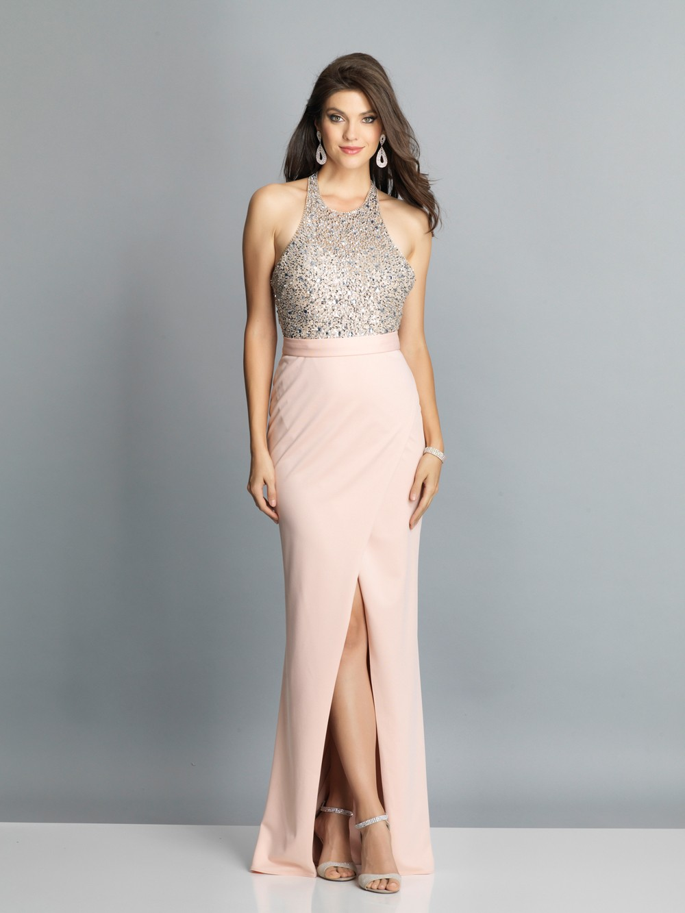 a925d1efe4d Dave and Johnny A7866 Backless with Slit Prom Gown