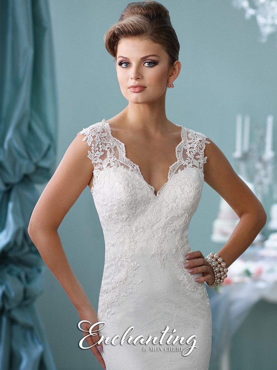 0011f0488ad ... Enchanting by Mon Cheri 116132 Wedding Dress ...