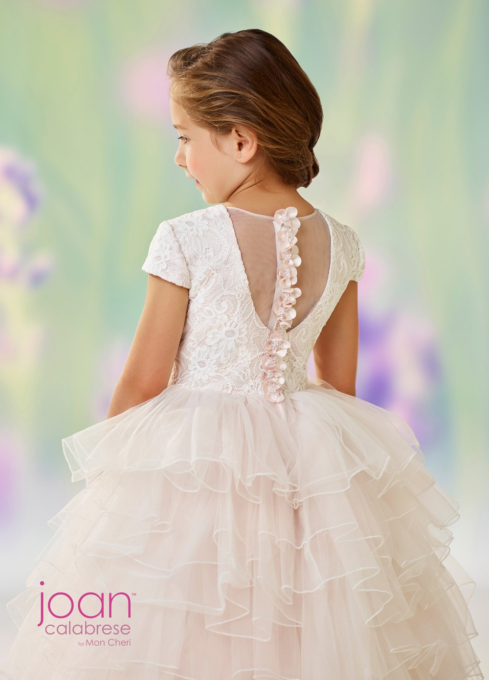 16828c45356 Tap to expand · Joan Calabrese 118329 Tiered Skirt Flower Girl Dress Joan  Calabrese 118329 Tiered Skirt Flower Girl Dress ...