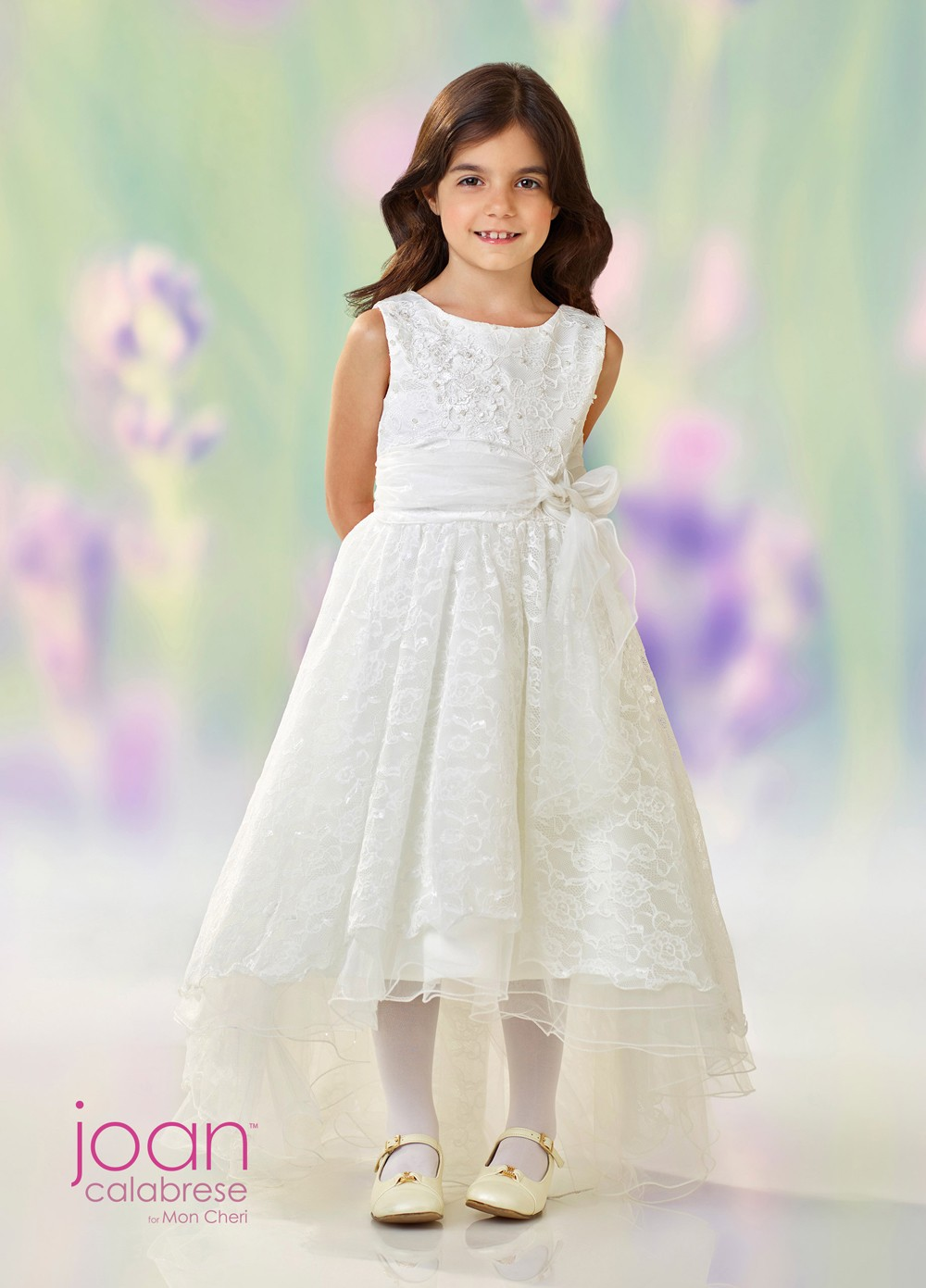 7489c157c55 Joan Calabrese 118331 High-Low Flower Girl Dress