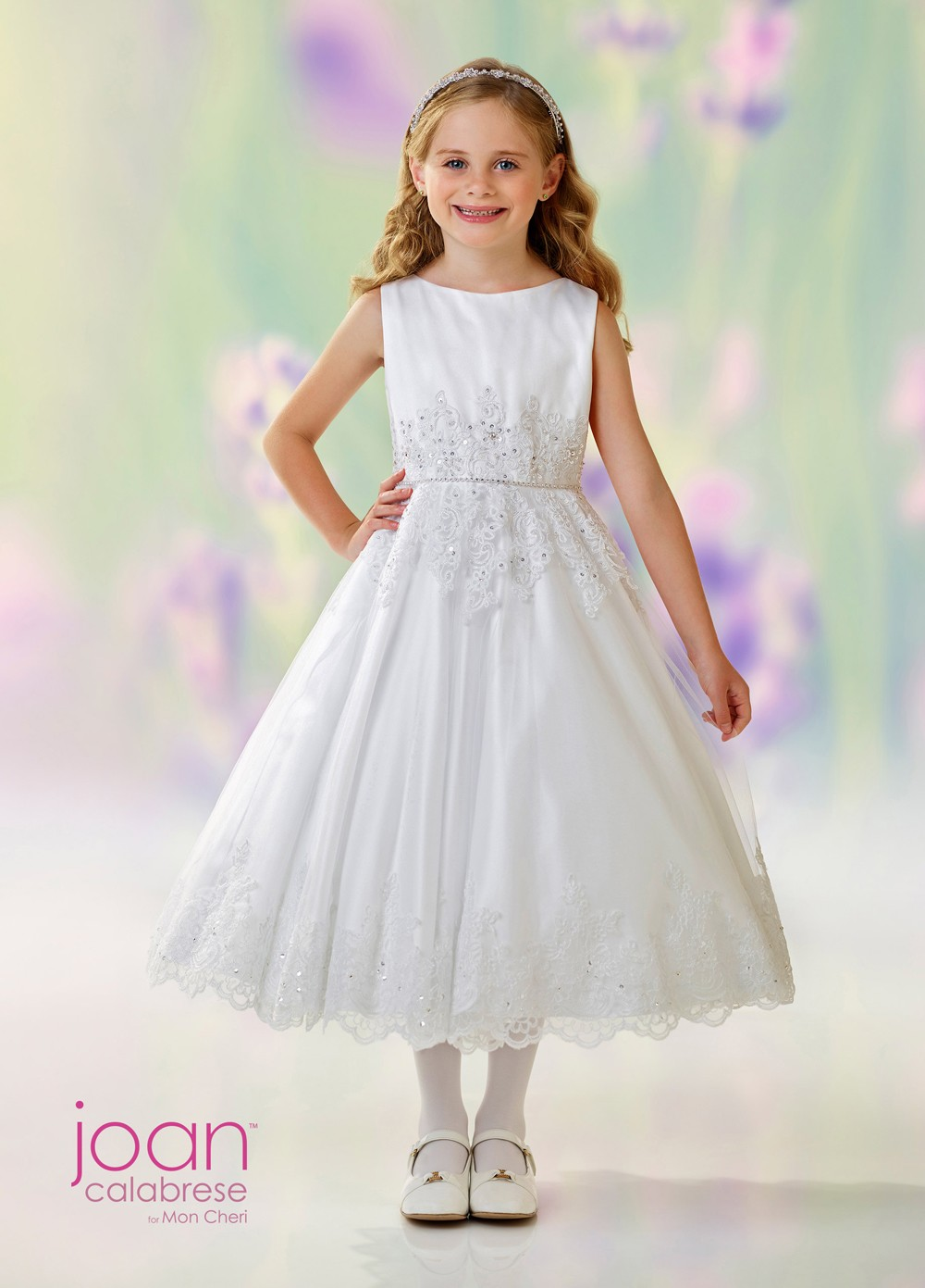 26536394704 Joan Calabrese 118332 A-line First Communion Dress. Tap to expand