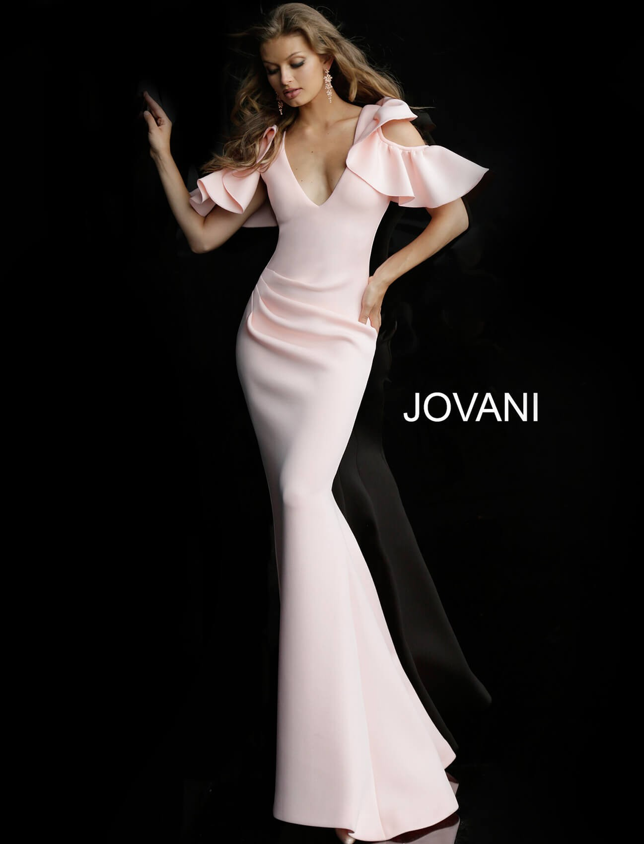adc709771ee Jovani 62246 Ruffled Sleeves Evening Gown. Size chart