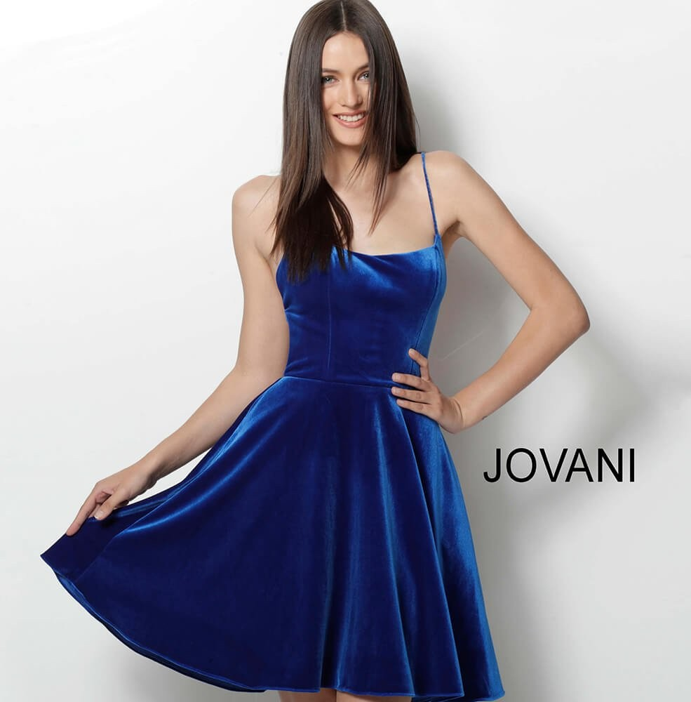 Jovani Royal Blue Short Dresses