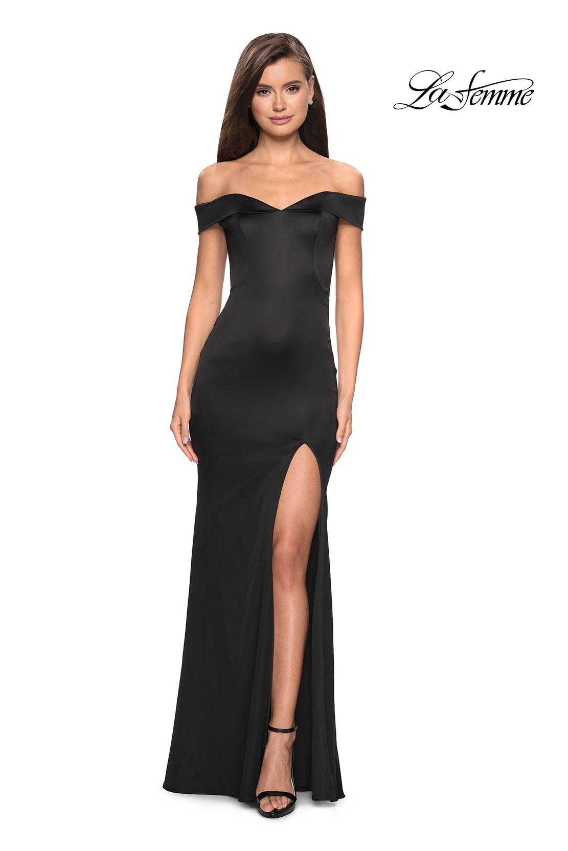 La Femme Off the Shoulder Dress