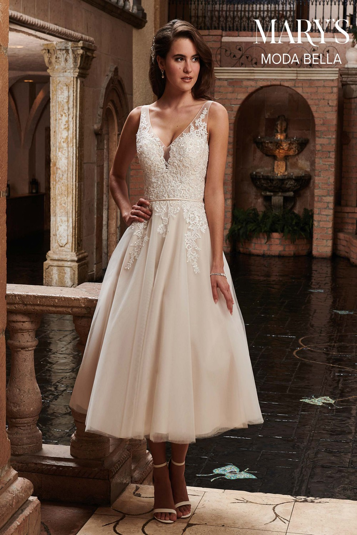 Fall Tea Length Wedding Dresses