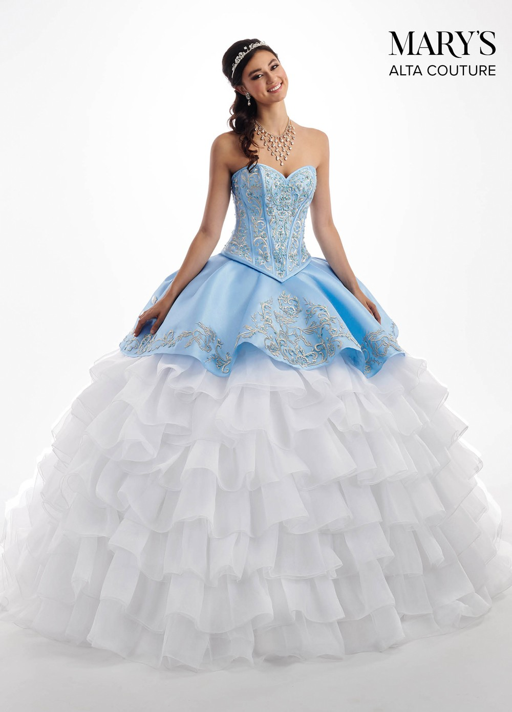 920cfb8be4b Quinceanera Dresses Blue And White
