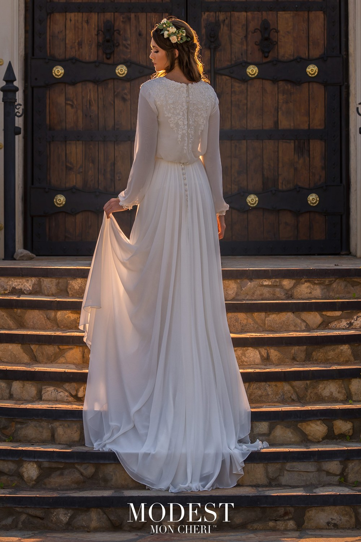 69bf75ecc4f Modest Bridal by Mon Cheri TR11977 Dress - MadameBridal.com