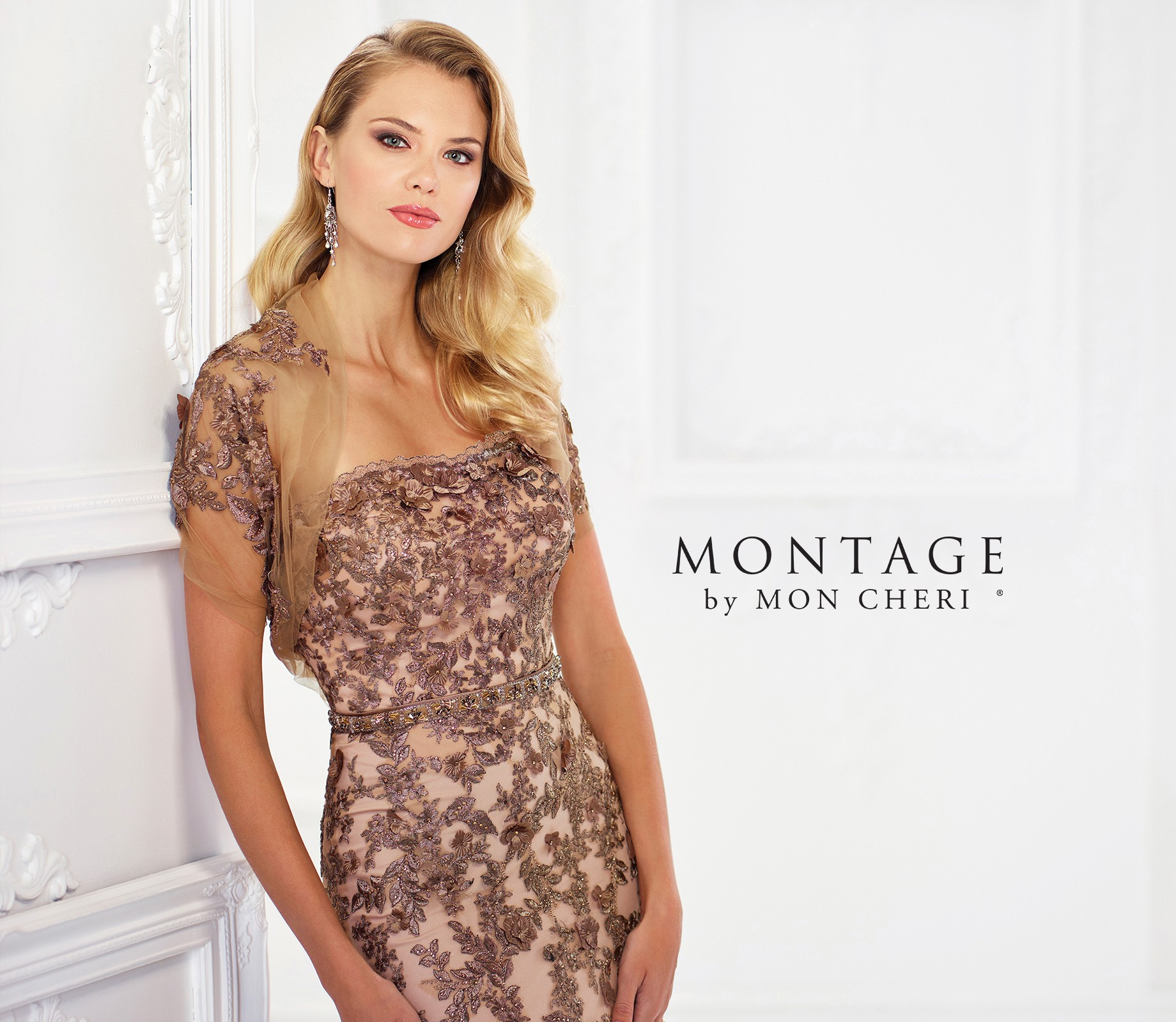 f2e90279d79 Montage by Mon Cheri 118961 Strapless Evening Dress with Shrug ...