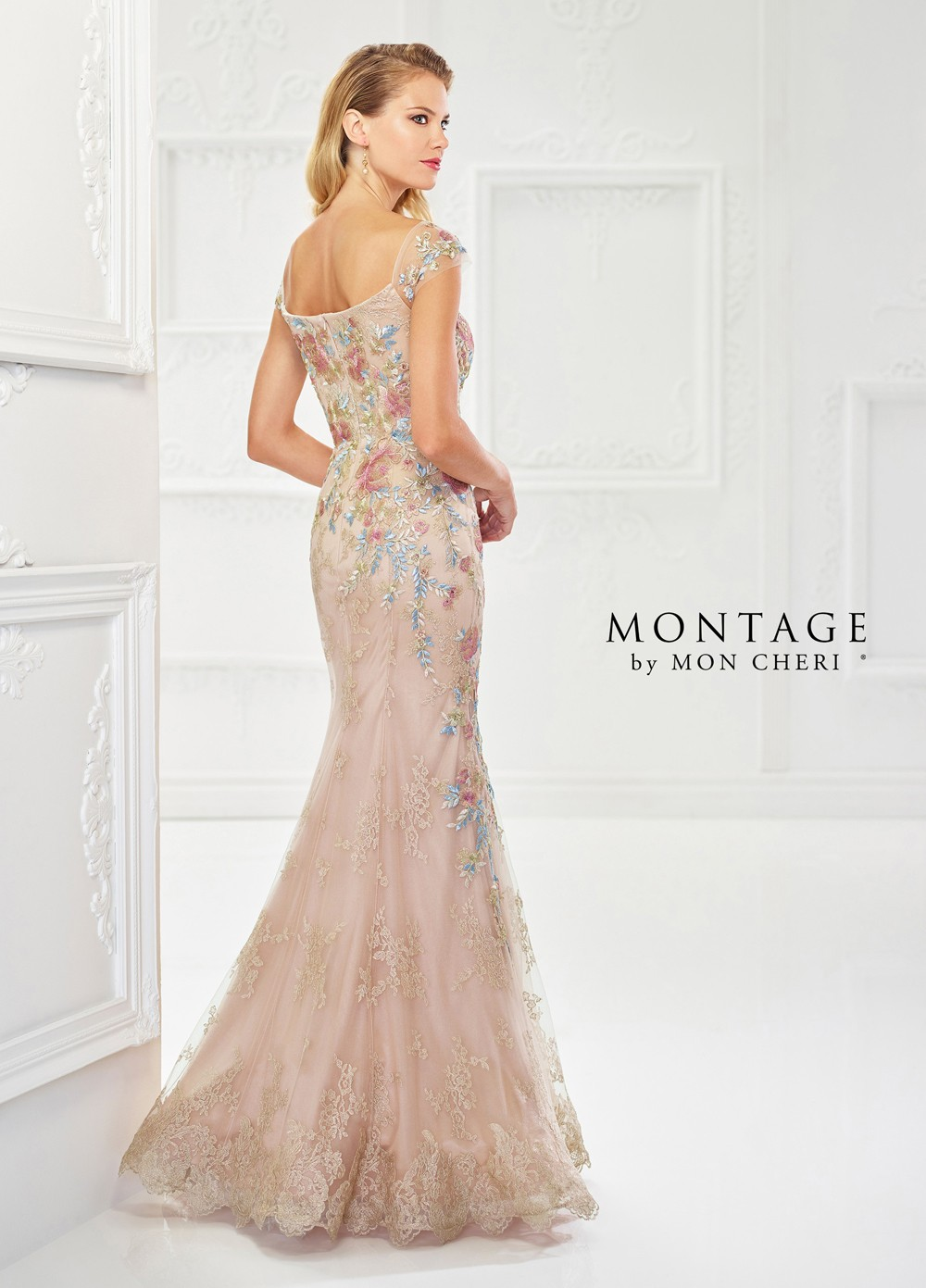 1339465dd93 ... Montage by Mon Cheri 118966 Cap-Sleeve Evening Gown ...