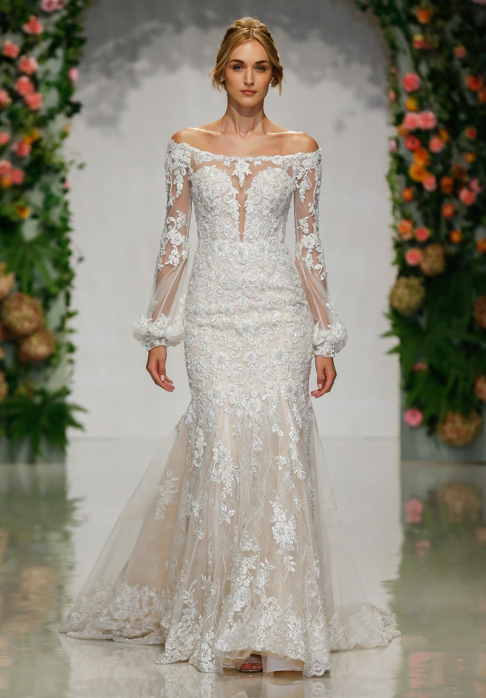 Cotour Wedding Dresses with Sleeves Off the Shoulder