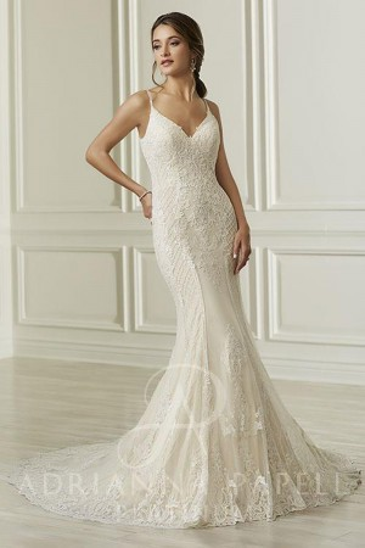 Half Strap Wedding Dress