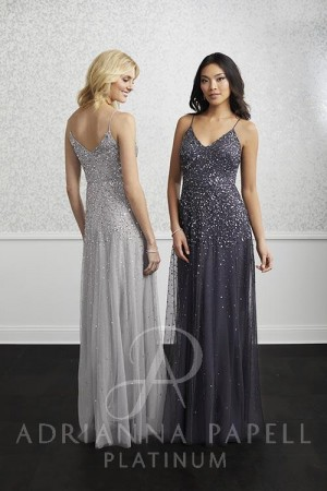 664706937c1 Adrianna Papell 40220 Sequin Bridesmaid Dress