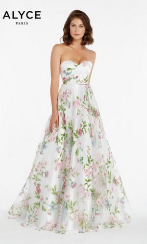 02be5749cb3 Alyce Paris 1440 Floral Print Prom Dress