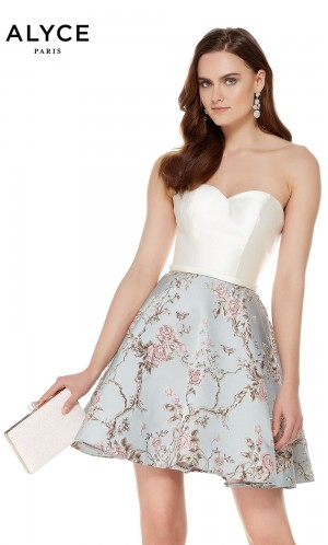 e46139fcf3 Alyce Paris 3779 Strapless Sweetheart Cocktail Dress