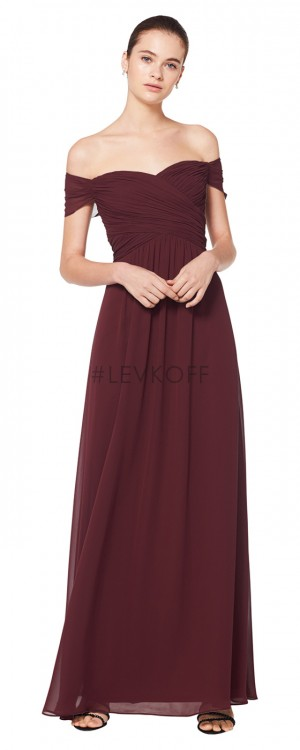 e1427cf39957c Bill Levkoff 7071 Off-The-Shoulder Bridesmaid Dress