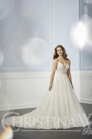 b5ddd260178 Christina Wu 15701 Spaghetti Strap Wedding Dress