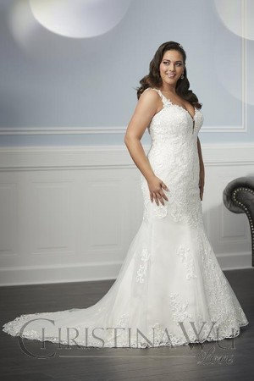 1bb18c54c2b Christina Wu 29336 Sweetheart Neck Plus Size Wedding Dress
