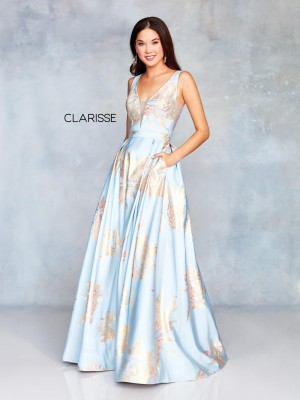 e54290a0f7 Clarisse 3703 Plunging V-Back Prom Dress