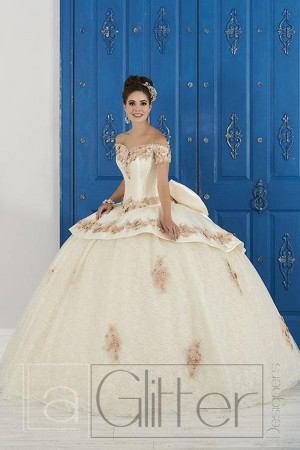 fb72032fae3 House of Wu 24048 Lace Skirt Quinceanera Gown