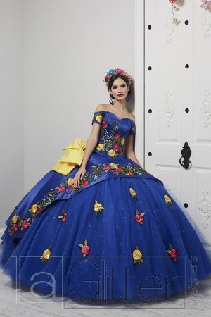 19bab2b47d05 ThreePiece Two Tier Skirt Charro Gown House of Wu La Glitter