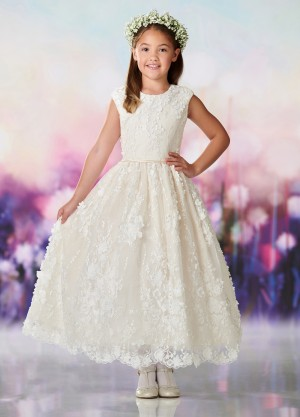 34588f29c1f Joan Calabrese 119379 Sequin Lace First Communion Dress