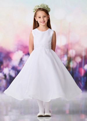 c6ee373765 Joan Calabrese 119397 Jewel Neck First Communion Dress
