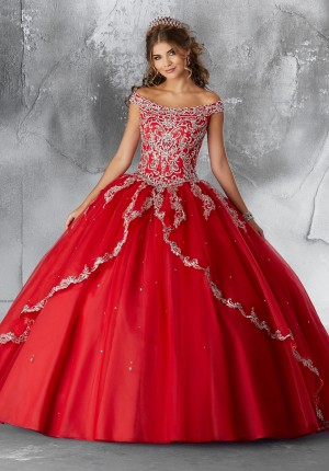 1693b9d7f04 Mori Lee 89191 Off-The-Shoulder Quince Dress