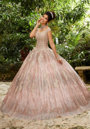 15cd4c4f28 Mori Lee 89243 Cap Sleeve Quinceanera Dress