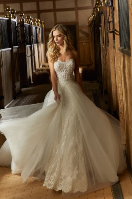 2c98ac71e7 Mori Lee Angelina Faccenda 1734 Rhiannon Sweetheart Neck Wedding Gown