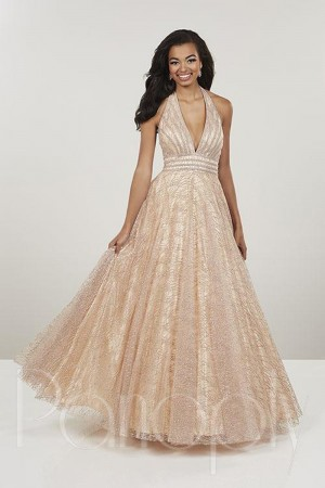 c064d652753 Panoply 14913 Halter Neck Prom Gown