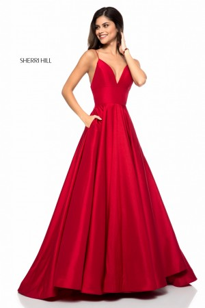 0e53029995b Sherri Hill 51822 Spaghetti Straps Formal Gown