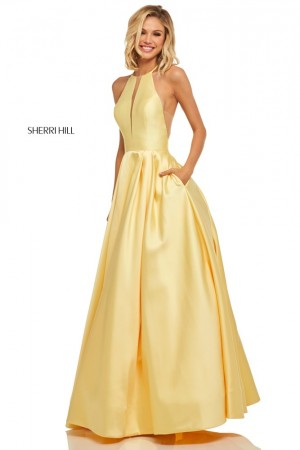 08f900cc084 Sherri Hill 52583 Racerback Prom Dress