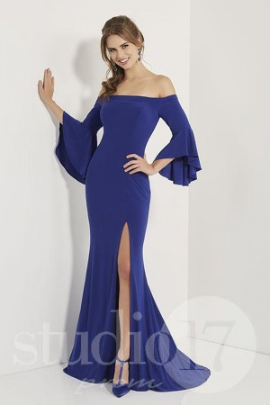 2b757aad0e Studio 17 12706 Bell Sleeve Prom Dress