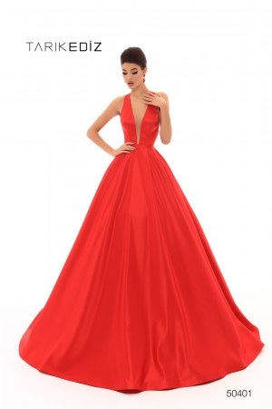 dd6950b1cd13 Tarik Ediz 50401 Cross Back Prom Dress