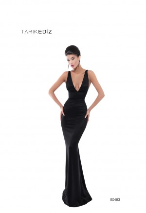 955d48fd64 Tarik Ediz 50483 Open Back with Belt Prom Gown