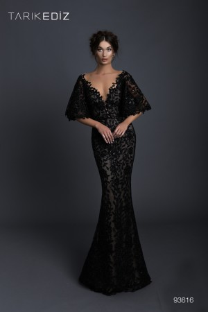aefd626499c Tarik Ediz 93616 Batwing Sleeve Prom Dress