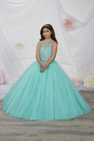 Turquoise and Gold Pageant Dresses