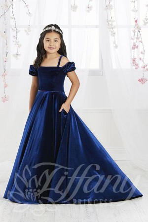 df8668c2886a Tiffany Princess 13566 Bubble Sleeve Pageant Gown